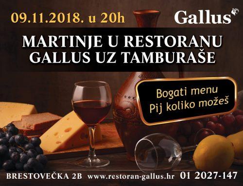 Slavite Martinje u restoranu Gallus uz tamburaše i vrhunsku domaću kuhinju