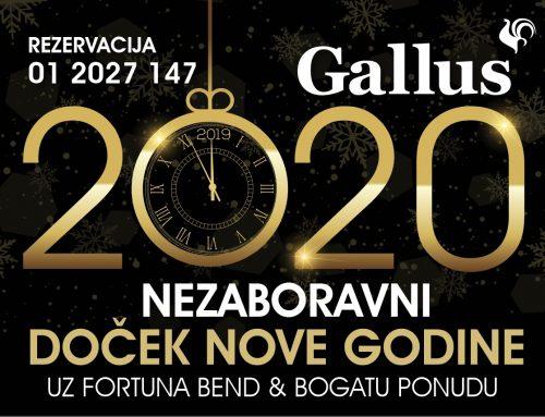 Doček Nove godine u restoranu Gallus